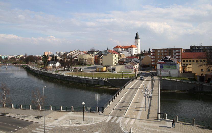 Přerov s Tyršovým mostem (foto MK)